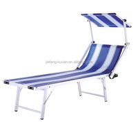 Hot selling reclining canopy beach bed