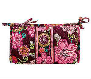 lady fashion quilting comsetic bag