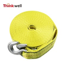 Factory Price Auto Parts Polyester Trailer Tow Strap Rope with Hook