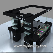 High-end mall makeup kiosk design cosmetic perfume display showcase for sale