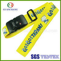 100% Polyester Retractable Printed Logo Luggage Belt