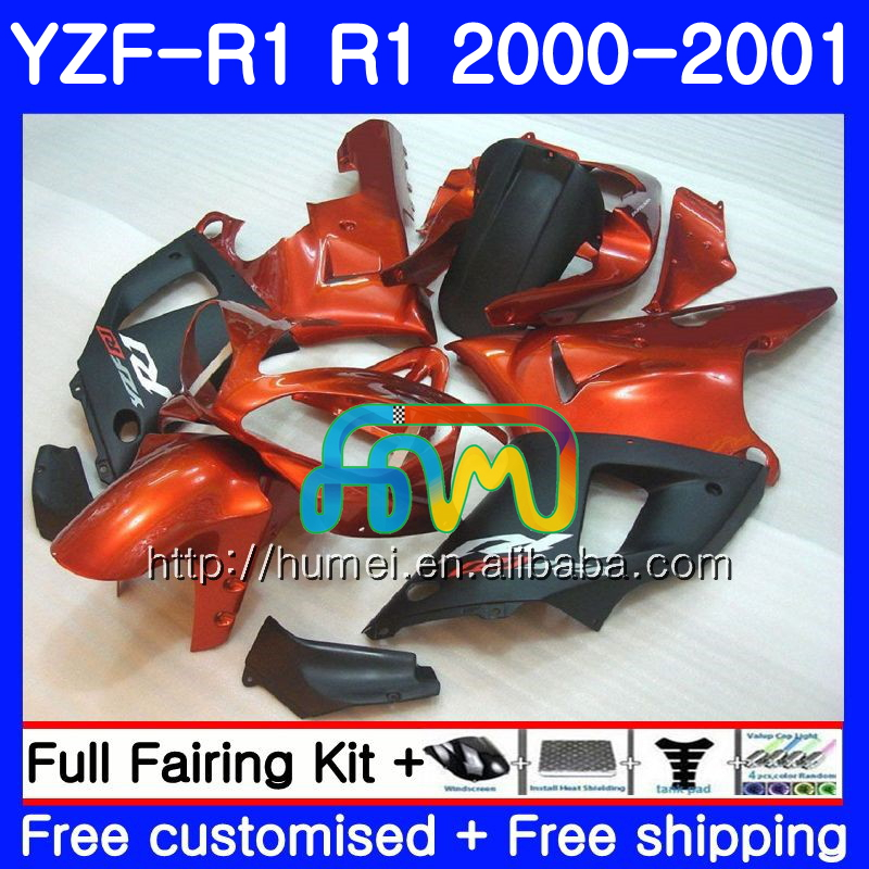Bodywork For YAMAHA YZF Orange black 1000 YZF-<strong>R1</strong> 2000 2001 Body 98HM45 YZF1000 YZF R 1 YZFR1 <strong>00</strong> <strong>01</strong> YZF-1000 YZF <strong>R1</strong> <strong>00</strong> <strong>01</strong> Fairing
