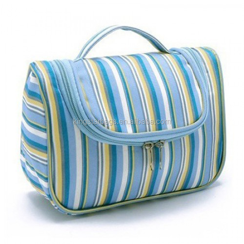 Sublimation rainbow printing satin material korean cosmetic bag
