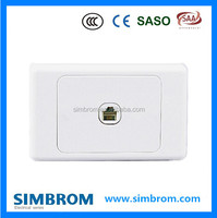 Smart Australian style tell socket, 1 G 4 core Tel socket wall switch,electric switch making machines