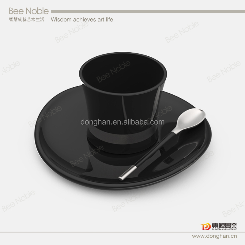 top grade italian coffee cup and saucer with spoon