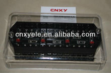 CNXY terminal block with fuse male needle terminals with transparent PC cover