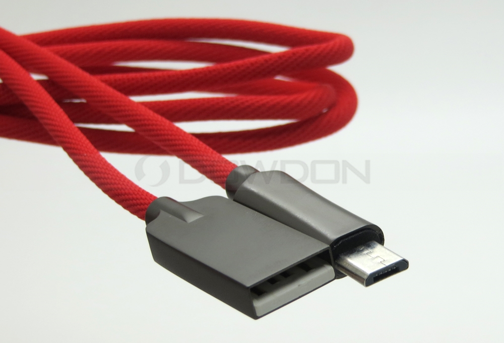 Rapid Charge Zinc Alloy USB Sync & Charger Data Cable for Android Micro USB Device