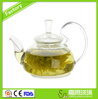 commercial pyrex glass tea pot new design borosilicate glass tea pot