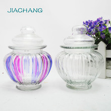 different style/shape cylinder kitchen glass sealed candy jar/honey jar
