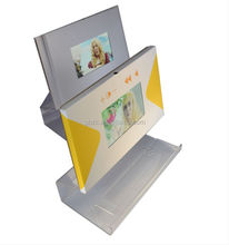 lcd video card with arcylic stand for advertising / lcd advertising video greeting card with acrylic display