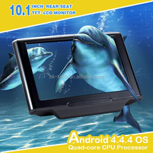 10.1 inch touch screen car headrest mount portable dvd player with bluetooth