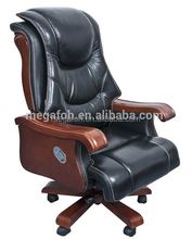 Grand solid wood high end president office recliner armchair (FOH-1152)