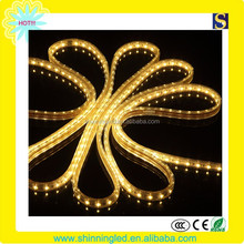 high voltage 60 leds/m Warm White color flexible SMD3528 strip Led light 220v 110v IP65