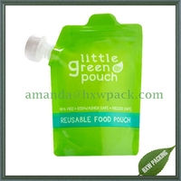 stand up spout pouch for fruit snacks/jelly/juice