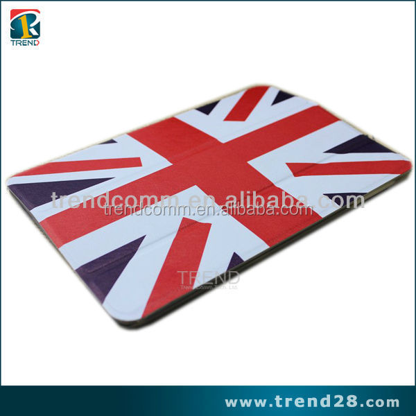 stylish fashion flag printed smart leather case for ipad air