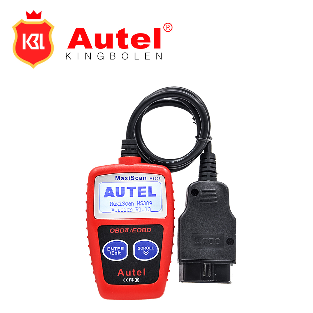 2017 Original Autel MaxiScan MS309 CAN BUS OBD2 Code Reader obd2 OBD II Car Diagnostic Tool Autel MS309 Code Scanner