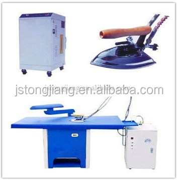 Laundry steam vacuum ironing table for dry clean equipment