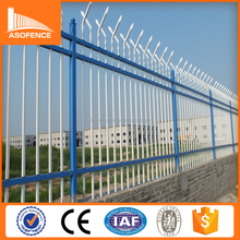 2016 new latest cheap wrought iron fence panels / decorative galvanized steel fence / antique metal fence design for sale