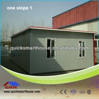Low cost economic flat roof light steel prefab house for residents