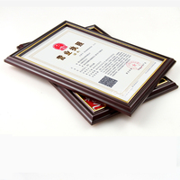 Custom acrylic certificate PS photo frame
