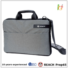 simple style grey laptop briefcase and resistance business bag