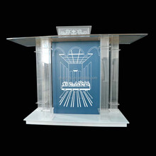 GH-S042 last dinner fashion modern glass church lcetern church pulpit