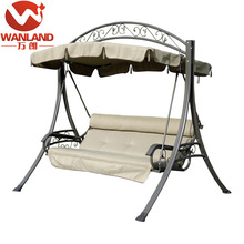 Leisure three seat metal adult swing set for outdoor
