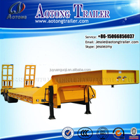 Best sell heavy duty 60tons 3 axle low bed semi trailer for Prime Mover truck tractor
