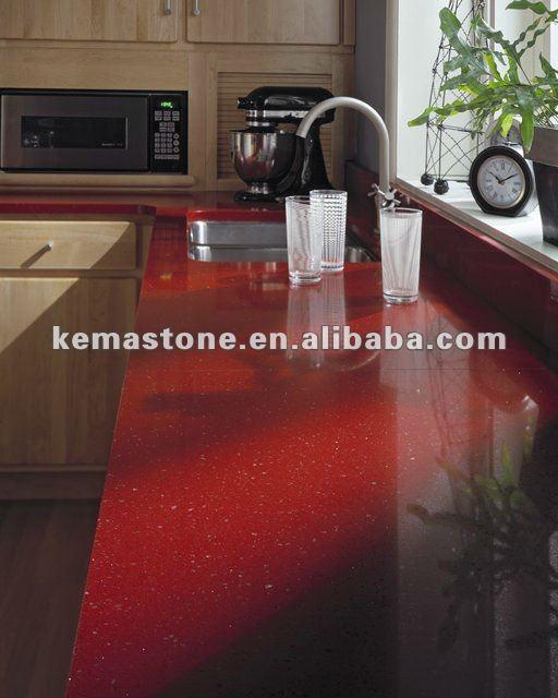 Red Quartz Kitchen Countertop: Warme Küche Rot Quarz Arbeitsplatten-Tischplatte