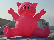 inflatable pig giant balloon logo accepted S2005