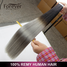 Forever double drawn indian remy human cheap skin weft ombre tape in hair extensions