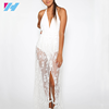 Yihao fashion new style sexy women dress custom design splicing white lace dress