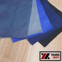 ASTMD 6413 Twill Plain Dyed Washable Cotton Fire Retardant Canvas Fabric For Overall Workwear