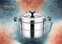 SHINY D06 Stock steamer pot with straight shaped