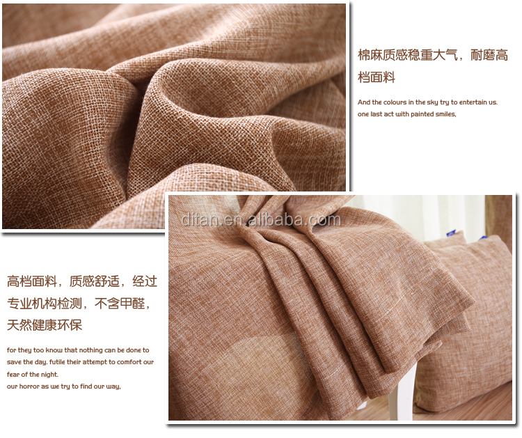 100% polyester cheap linen look sheer curtain fabric