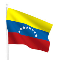 Polyester printed 3 x 5 custom venezuela national flag with grommet