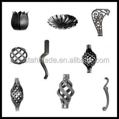 cheap hight quality ornamental Wrought Iron/cast iron Door Gate Components Flower and leaves for trading