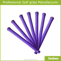 OEM Custom Golf Grips - Purple Wood/Iron Golf Grips With Alloy Head