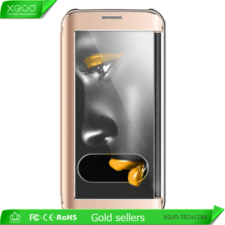 Gold metal cell phone case for Samsung Galaxy S6 edge