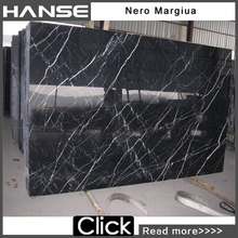 HC-017 24''x24'' 20cm black nero margiua slab china marble tile