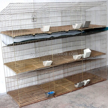 9 Cell Rabbit Cage