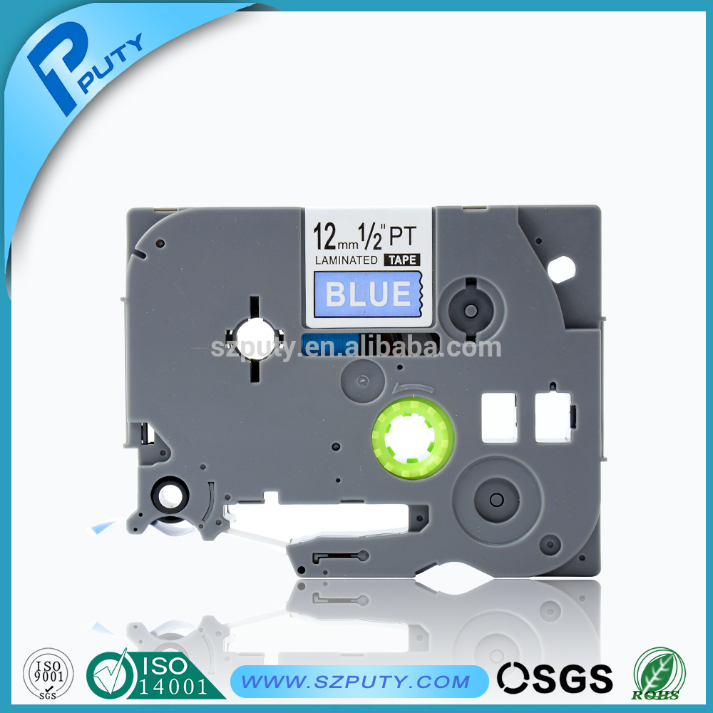TZ535 TZe535 TZe 535 TZe-535 12mm White on Blue Label Tapes Compatible for P-touch Typewriter