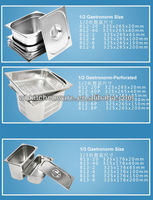 LFGB & NSF Approve Heavy Duty Stainless Steel gn pan industrial kitchen electrical equipment