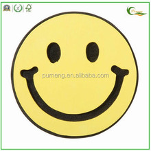 wooden decoration Doodle yellow smiley face painted wood shape