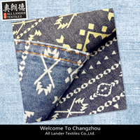 denim fabric with discharge print denim fabric