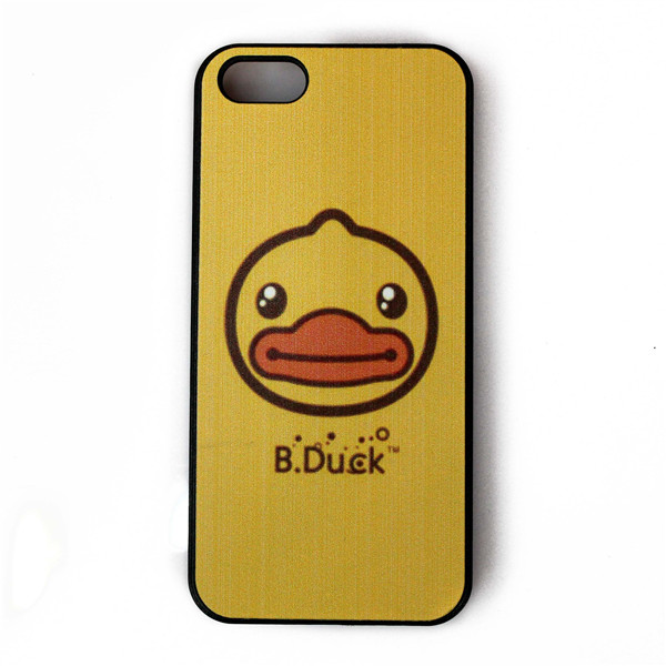 Factory supply high quality ultra transparent hard PC mobile phone cover for iphone5c case,yellow duck design for girls