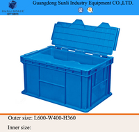 84L Logistic Shelf Stackable PP Plastic Storage Box with lids