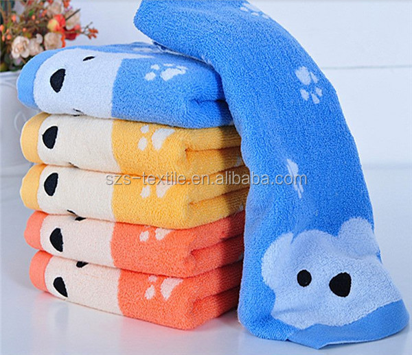 kids hand cotton towel cartoon