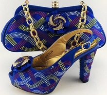 shoes italy design with matching bags for wedding and party SB593 euro38-42