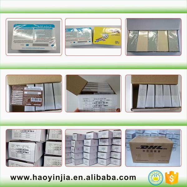 High quality iso 7810 Plastic PVC Card with white signature panel